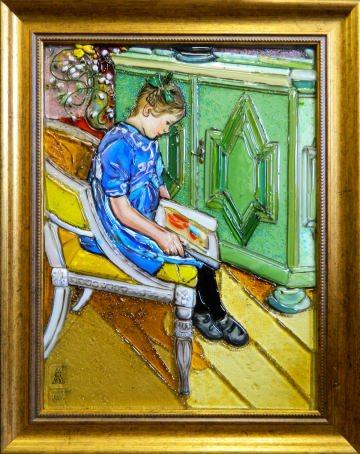 Карл Ларссон — Девочка с книгой