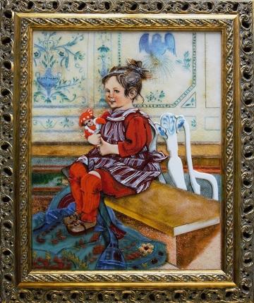Карл Ларссон «Лисбет с куклой»