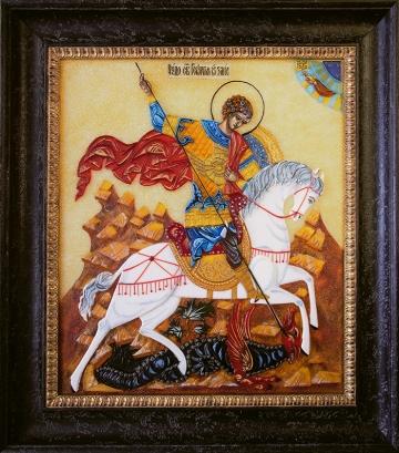 Икона из стекла «Георгий Победоносец»