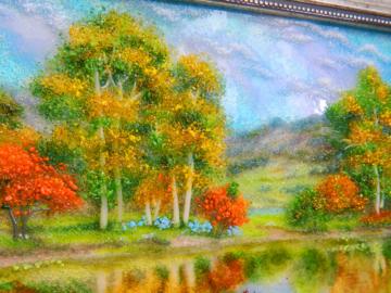 Картина из стекла «Весной у реки»