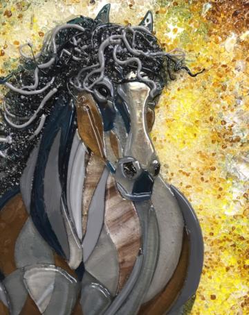 Картина из стекла «Быстрый как ветер»
