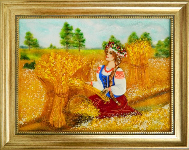 Картина из стекла «Дожинки»