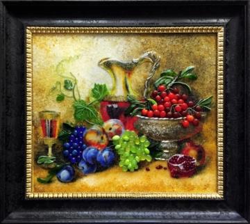 Картина из стекла «Натюрморт с фруктами»
